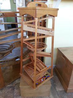 Wooden Marble Pyramid Run Tower Maze Machine by AlaratessAlexbres