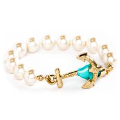 Breakfast at Tiffany's Pearl Bracelet by Kiel James Patrick on Country Club Prep // Email xcgal98@gmail.com for a 20% off code + free shipping