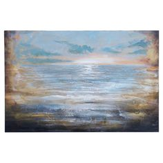 Add artful appeal to your entryway or living room with this lovely canvas print, showcasing an ocean motif for a touch of coastal style. Product: Canvas p...