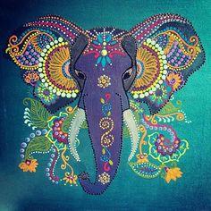 My elli 🐘💕 just finished this morning Mandala Painting, Dot Painting, Mandala Art, Painting Tips, Watercolor Painting, Elephant Quilt, Mandala Elephant, Elephant Artwork, Indian Elephant Art