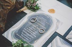 Discover the perfect jewel inspired wedding invitation for your special day from Minted.