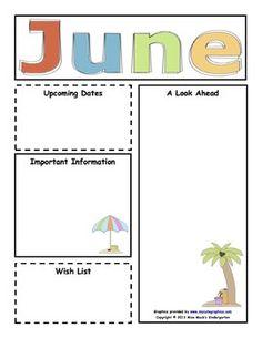 july preschool newsletter template teaching ideas. Black Bedroom Furniture Sets. Home Design Ideas