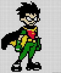 Teen titans Robin perler bead pattern