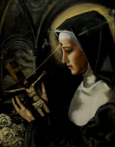 Saint of the Day – 22 May – St Rita of Cascia – Patron of Impossible Causes, Abused Wives and Widows Santa Rita De Cascia, St Rita Of Cascia, Religious Images, Religious Art, Religious Quotes, Prayer To St Rita, Sainte Rita, Pope Leo Xiii, Novena Prayers