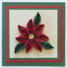 Quilling Flowers - Poinsettia