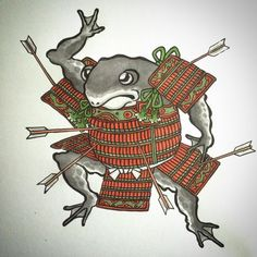 Frog Tattoos, Rabbit Tattoos, Body Art Tattoos, Japanese Tattoo Art, Japanese Art, Sapo Frog, Frog Illustration, Frog Drawing, Asian Tattoos