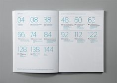 modern + minimalist + monochrome index or table of contents #design