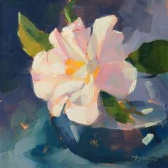 "Daily Paintworks - ""White Camellia"" by Katia Kyte"
