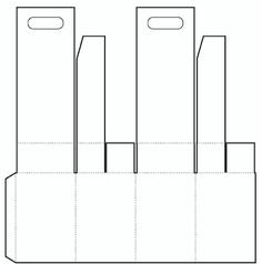 picture hanging template kit - die cutting image of hanging box template