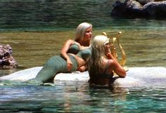 Disneyland lagoon mermaids, Back in the 60's apperantly they had models dressed as mermaids in the 20,000 leagues under the sea ride. I heard they had to stop doing it because the chlorine in the water was too strong. Also, guys kept diving into the lagoon to hit on the girls, lol… Shame because this is awesome, I bet the kids loved it!