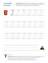 Uppercase J letter tracing worksheet, with easy-to-follow arrows showing the proper formation of the letter.