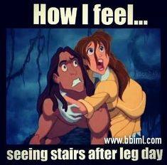 "How I feel... seeing stars after leg day."" #Gym #humour"