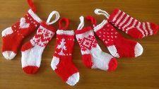 Mini Christmas Stockings Christmas Tree Decorations Knitting Pattern