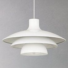 Buy House by John Lewis Harvey Pendant Light, White Online at johnlewis.com