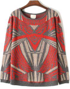 Orange Long Sleeve Iron Man Pattern Sweater US$33.27