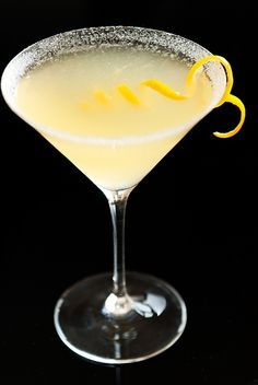 Lemon Drop Martini Recipe and Shot Recipe from Real Restaurant Recipes. Alcohol Drink Recipes, Martini Recipes, Cocktails, Cocktail Drinks, Martinis, Cocktail Shaker, Liquor Drinks, Non Alcoholic Drinks, Pina Colada