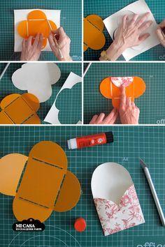 Tutorial sobres DIY con papel de regalo. Paso a paso | Blog www.micasaencualquierparte.com