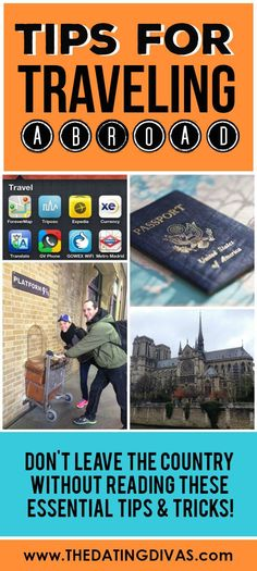 5 of the BEST tips for traveling abroad from www.TheDatingDivas.com