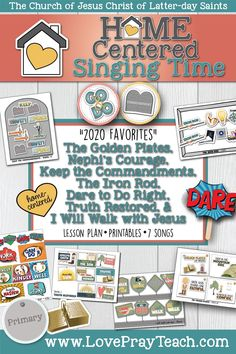 Lds Primary Lessons, Primary Songs, Primary Singing Time, Nephis Courage, Kids Church, Church Ideas, Primary Chorister, Family Home Evening, Scripture Study