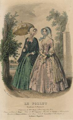September fashions, 1847 France/US, Le Follet/Graham's Magazine