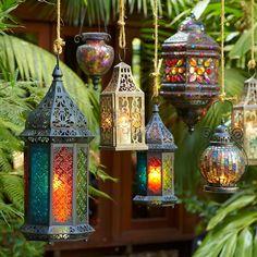 Beautiful Moroccan lanterns #homedecor #hippiestyle