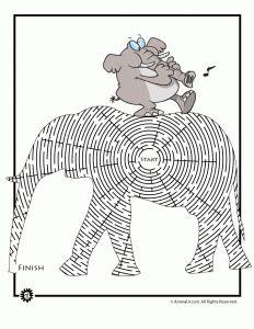 Elephant Animal Maze