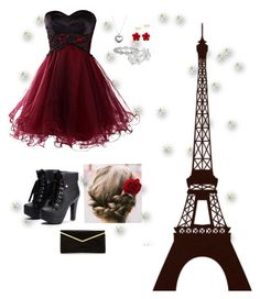 """""""A night in Paris- School dance theme ❤️🖤❤️"""" by sophia-smiles on Polyvore featuring Pandora, Harry Kotlar, M&Co, Chanel and Kate Spade"""