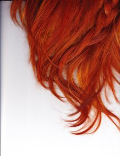 Fire red. i would consider dying my hair this color..