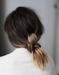 Loose braid for short hair.
