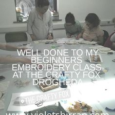 Great Beginners Embroidery class in The Crafty Fox today. Well done. Crafty Fox, Embroidery For Beginners, Textile Artists, Hand Embroidery, Textiles, Wellness, Instagram, Fabrics, Textile Art