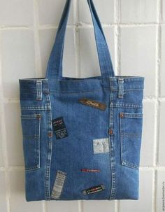 New diy bag denim upcycle 70 Ideas Diy Bags Jeans, Denim Tote Bags, Denim Purse, Diy Tote Bag, Artisanats Denim, Blue Denim, Denim Skirt, Denim Bag Patterns, Blue Jean Purses