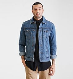 Plaid-Lined Denim Jacket from Forever Saved to Forever 21 Men. Shop more products from Forever 21 on Wanelo. Lined Denim Jacket, Denim Jacket Fashion, Mens Fashion Summer Outfits, Mens Fashion Suits, Mens Clothing Styles, Forever 21, 21 Men, Plaid, Final Sale
