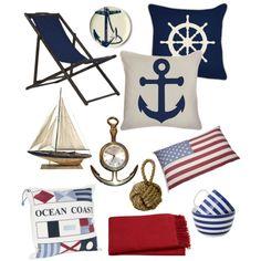 """Nautical style"" by Coastal Style Blogspot"