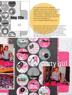 Scrapbook pages, cards, embellishments and more featuring Scrapbook Generation's exclusive sketches.
