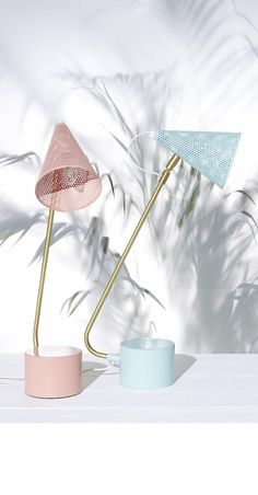 Work those angles and have fun with design with the Coral Ponti Table Lamp.