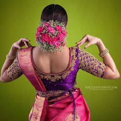 Gorgeous in our hand embroidered designer blouse and customized belt. Photography MUAH… Gorgeous in our hand embroidered designer blouse and customized belt. Wedding Saree Blouse Designs, Pattu Saree Blouse Designs, Half Saree Designs, Fancy Blouse Designs, Blouse Back Neck Designs, Saree With Belt, Saree Belt, Studios, Work Blouse