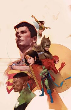 Variant cover art by Ben Oliver for 'Justice League' issue published June 2018 by DC Comics Arte Dc Comics, Dc Comics Art, Comic Books Art, Comic Art, Book Art, Justice League Team, Justice League Unlimited, Ben Oliver, Univers Dc
