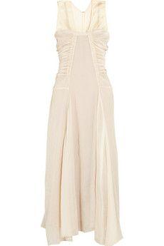 Reed Krakoff Ruched silk-chiffon midi dress   THE OUTNET