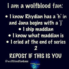 Repost if you are a Wolfblood fan who has done this... I know I have!