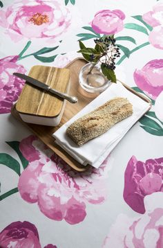 Pioni Tablecloth    Pentik Spring 2018   Create a beautiful spring home with sophisticated Pioni (Peony) pattern where hefty flowers on the surface of the fabric remind us of plentiful summer garden. Deliciously pink Pioni (Peony) makes your home bloom.