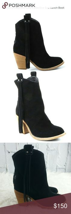 """💞SALE Australia Luxe Eve Tassel Ranch Black Boot Fabulous NWOT Australia Luxe Collective Eve Black Suede Leather Tassel Ranch Boot. Long Tassels swing from this Western Inspired Boot shaped from Soft Suede Leather and stacked Leather 3"""" Heel. These are such an Adorable Boot pictures don't show the Beauty and Quality. Perfect Gift for that Loved one or Treat yourself to these Amazing Boots. They sell on Amazon for $300 ❤ Australia Luxe  Shoes"""