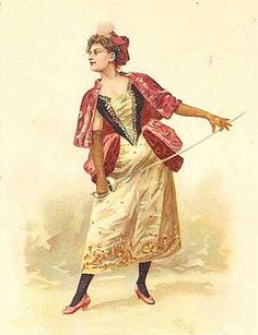Fashionable woman fencer 2 by spiralsheep, via Flickr