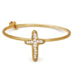 little emblem gold cross ring  akoya pearl LE-AR160 #littleemblem #ring #gold #cross #akoyapearl #ruby #em #emgrp