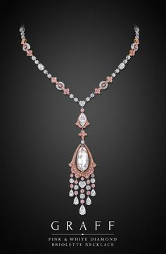 Graff Pink and White Diamond Pendant | Saved for Future Outfits in Gabrielle's Amazing Fantasy Closet