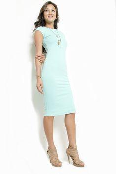 Perfect Day Bodycon Midi Dress - Mint