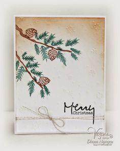 pine cone christmas cards - Google Search