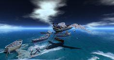 https://flic.kr/p/YiQ4Am | En route sur les ailes de papier | Visit this location at Binemust in Second Life