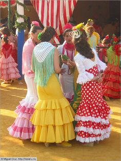 Colorful dresses in Seville