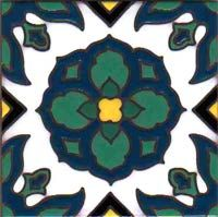 another from my collection, 6x6 Catalina Tile, Silver Canyon Tile Co.