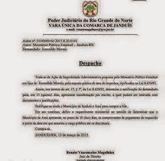 RN POLITICA EM DIA: JANDUÍS: JUSTIÇA ENTRA COM AÇÃO CONTRA VEREADOR PO...